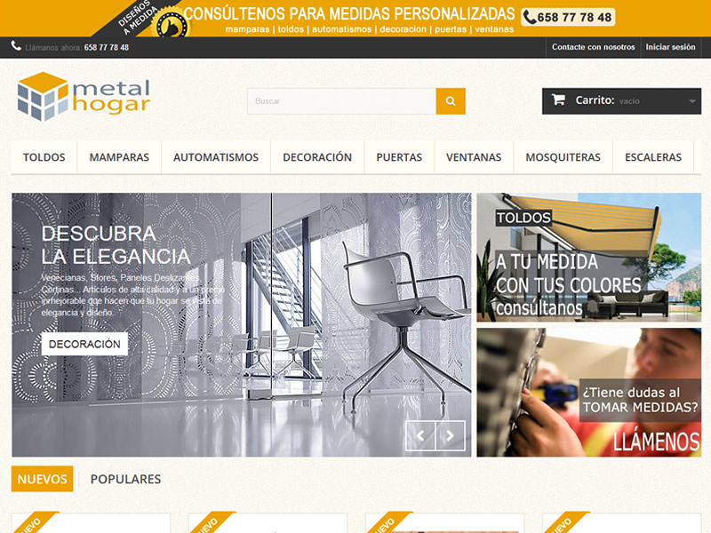 Web E-Commerce Metal Hogar